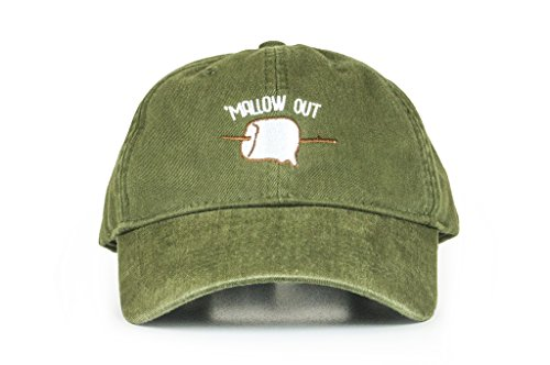 Cowbucker Better Adventures Baseball Hat | Mallow Out Logo | Six Panel Logo Hat | One Size, Olive
