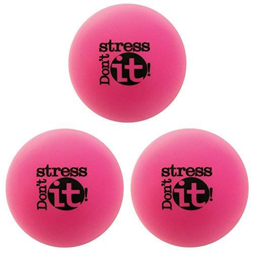 Motivational Stress Balls, 3 Pack, Teacher Peach Stress Relief Gifts (Pink)