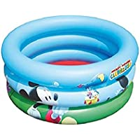 Bestway 91018 - Piscina hinchable para niños Disney Mickey and the Roadsters, 70 x 30 cm, 38 litros