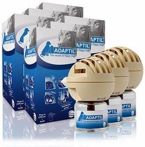 6 PACK ADAPTIL Calm Home Diffuser for Dogs (30 Day Starter Kit) 288 ml