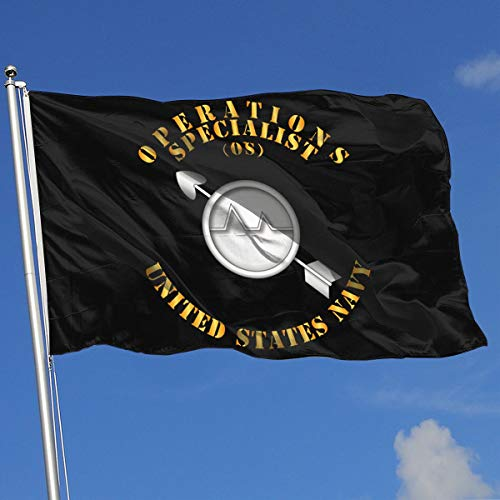 TJHJOL Navy Rate Operations Specialist 3x5 Feet House Flag