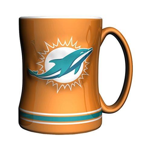 NFL Miami Dolphins Sculpted Relief Mug, 14-ounce, -