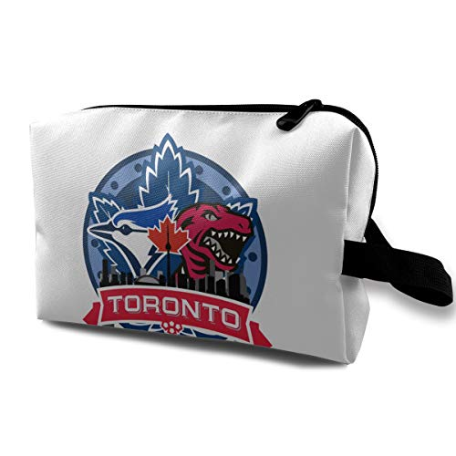 Lovesofun Toronto Bl-ue Jays  Portable Travel Makeup Bags Toiletry Bag Luggage Cosmetic Packing Bag with Zipper ()