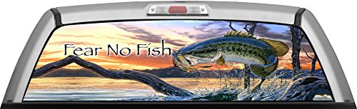 FISHING - FEAR NO BASS by ITIGD : Truck Rear Window Decal Wrap (Rear Window Fishing Graphics compare prices)