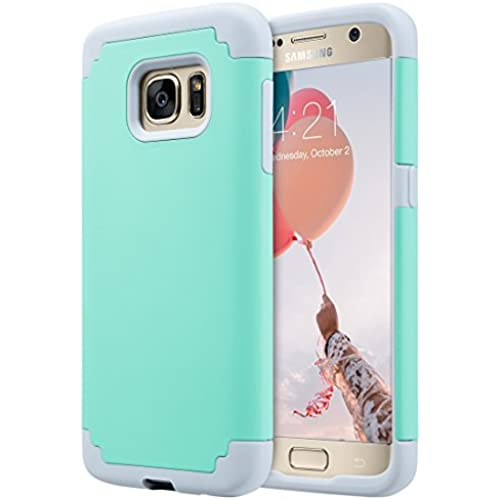 S7 Case, Galaxy S7 Case,ULAK 2 in 1 Slim Thin Corner Protection Hybrid Dual Layer Shock Absorbing Impact Resist Case for Samsung Galaxy S7 (5.1 inch) (Turquoise Sales