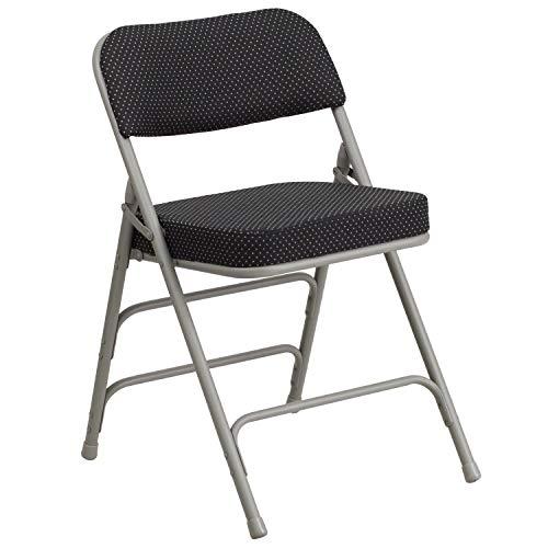 Flash Furniture Hercules Series Premium Curved Triple Braced & Double Hinged Fabric Metal Folding Chair