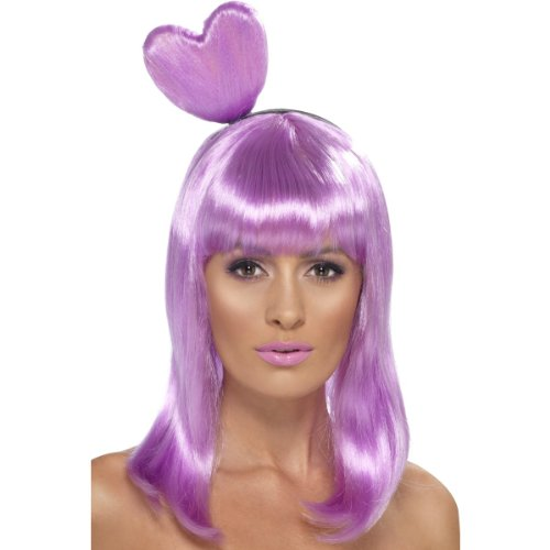 Candy Queen Wig Katy Perry Heart California Gurls Girls Video Pop Womens (Purple)