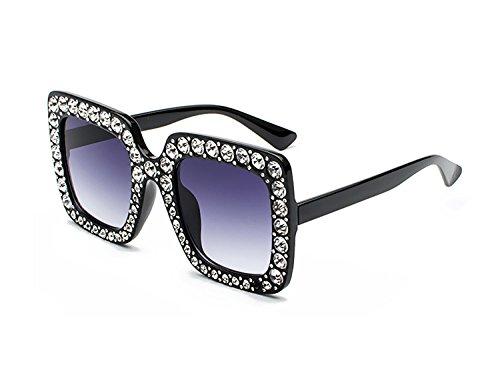 de UV400 C1 Lunette Stass Classique Carré de Eyewear Lunettes Élégant Sparkling Design Femmes cadre soleil Bmeigo Grande zZwdxRza