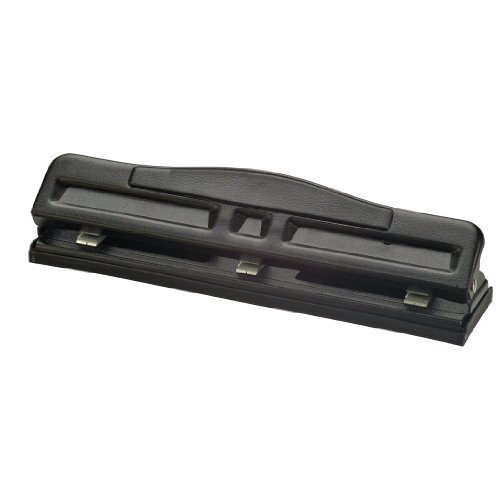 (Officemate Adjustable 2-3 Hole Punch with Padded Handle, 11 Sheet Capacity, Black (90085) )