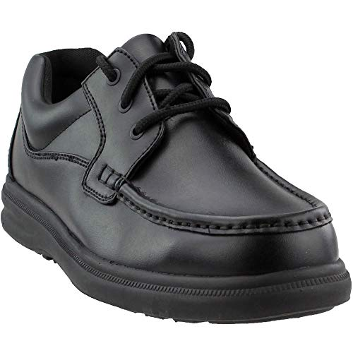 Hush Puppies Men's Gus Oxford,Black Leather,11 W US