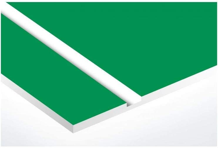 Plaque boite aux lettres NUMERO format Edelen vert pomme lettres blanches 1 ligne 99x24mm