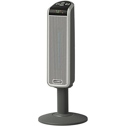 Lasko 1500 Watt Digital Ceramic Tower Heater with Widespread Oscillation & Digital Display with Adjustable Thermostat, Automatic Overheat Protection and Remote Control