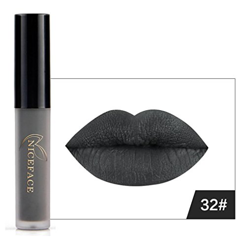 Lip Gloss, Lotus.flower New 9 Colors Halloween Style Lip Lingerie Matte Liquid Lipstick Waterproof Makeup (F)