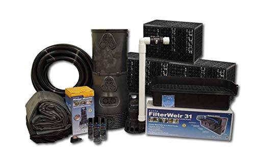 (Savio PF1500 18' Ft Pro Series Free Package-PF1500 Large Vanishing Waterfall Stream Pond Kit,)