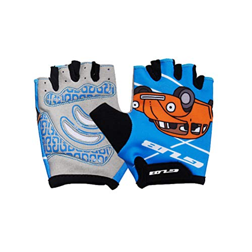 VORCOOL Bicycle Gloves Outdoor Sports Half Finger Gloves Gym Weight Lifting Workout Jogging Running Exercise for Kids Children by VORCOOL