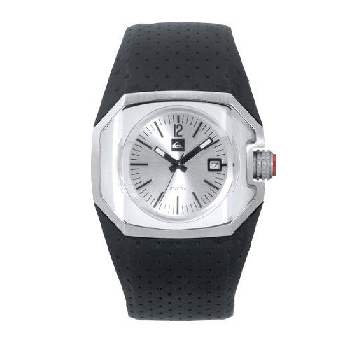Quiksilver M114JR/ASIL - Reloj de caballero de cuarzo, correa de goma color negro: Amazon.es: Relojes