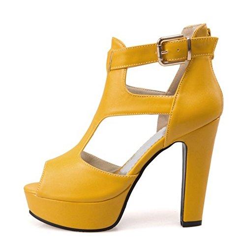 Sandalias Ancho Descuento Moda Mujer Toe Tacon 60De Razamaza Peep bgyv6Yf7