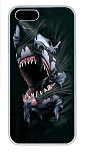 Breakthrough Shark Custom iPhone 5s/5 Case Cover Polycarbonate White,Original Design