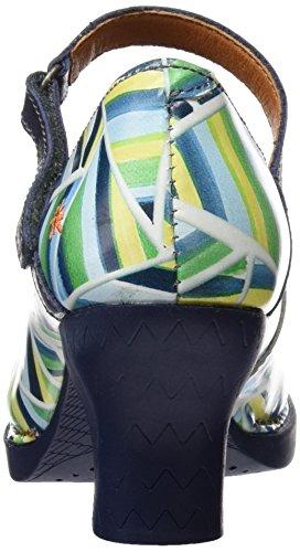 ART 0933 Fantasy Harlem, Zapatos de Tacón con Punta Cerrada para Mujer Varios colores (Stripes)