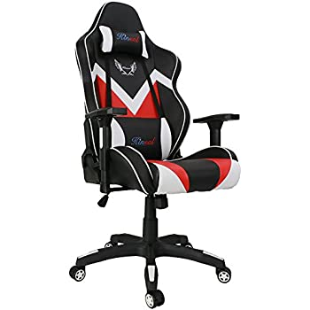 kinsal gaming chair executive computer chair highback ergonomic desk chair racing chair leather office chair including headrest and lumbar support