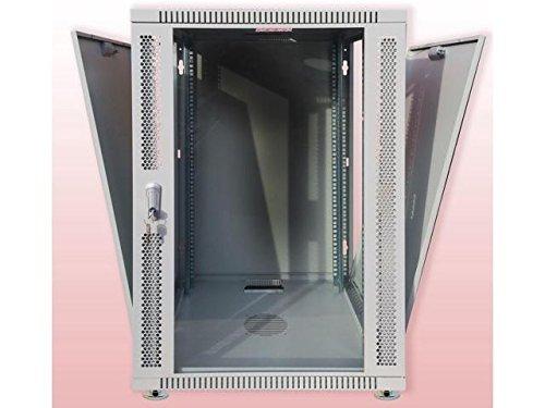 18U Wall Mount GRAY IT Network Data Server Rack Cabinet Enclosure 24'' Depth FREE!! 2 Shelv, 8-Way PDU, Fan, Caster, Hardware & more