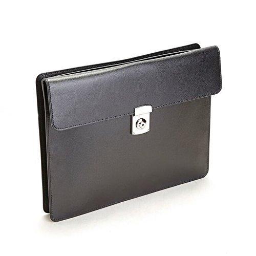 ROYCE Women's RFID Blocking Executive Underarm Portfolio Brief in Genuine Saf... - Underarm Leather Briefcase