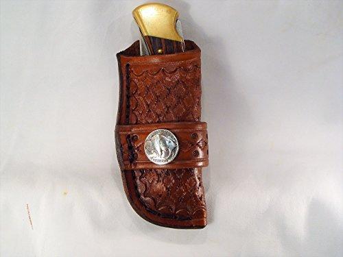 Buck 110 leather custom knife sheath with concho no knife