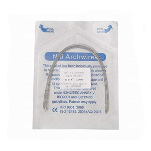 50 Wires Orthodontic NITI Arch Wire,Supper Elastic Niti Arch Wire Round Square
