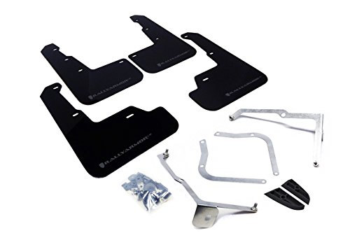 Rally Armor 15+ Subaru WRX & STi Sedan Only UR Black Mud Flap w/ Grey Logo (Rally Mud Flaps Subaru)