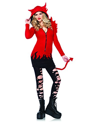 Leg Avenue Women's Cozy Devil Costume, Red, X-Large (Sexy Devil Halloween Costumes)