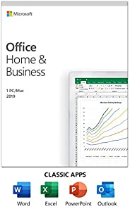 Microsoft Office Home & Business 2019 | One-time purchase, 1 person | PC/Mac Key