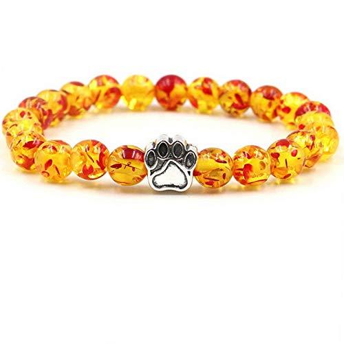 (Florance jones Men Women Natural Stone 8mm Beads Bracelets Tiger Eye Turquoise Bangle | Model BRCLT - 12651 |)