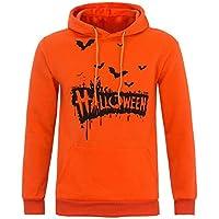 Mens Casual Scary Halloween Pumpkin 3D Print Party Long Sleeve Hoodie Top Blouse