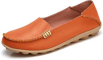 VenusCelia Womens Comfort Walking Orange Size: 7.5