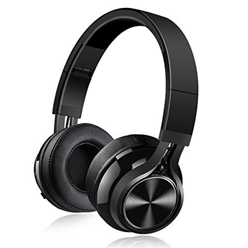 Bluetooth Headphones, Over Ear Bluetooth Headphones, Hi-Fi Stereo Wired and Wireless Headphones, Folding Lightweight Wireless Headset with Built-in Mic for Cell Phone TV PC