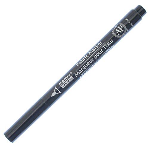 Uchida 522-C-1 Marvy Fine Point Fabric Marker, Black