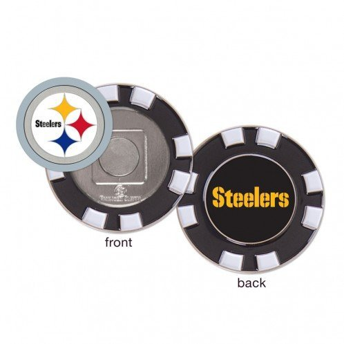 (Pittsburgh Steelers Poker Chip Golf Ball Marker)