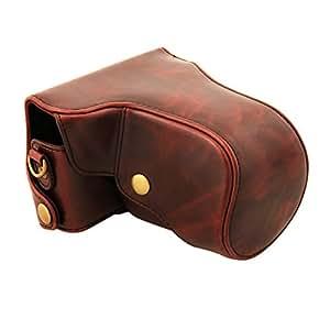 Cahaya Leather Case - Funda para Canon EOS-M, rojo