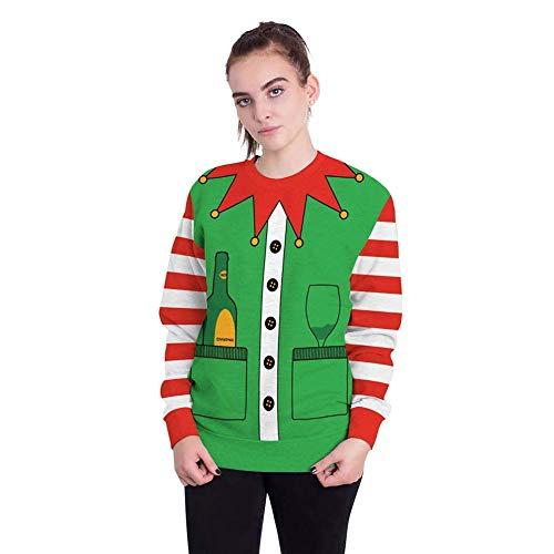 3d Pullover 18 Top Natale FelpeUomini Girocollo Coppia Digital Christmas Festival Womens Print Oversize New carnevalecolore16TagliaScolore4Dimensione n0wPkO8X