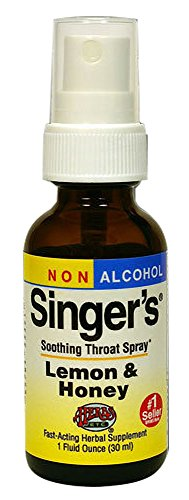 Lemon Sore Natural Throat (Singer's Saving Grace Soothing Throat Spray Lemon & Honey 1 oz Non Alcohol)