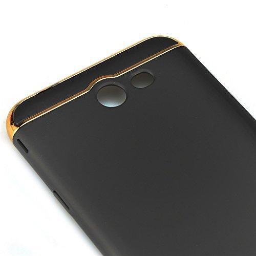 Funda Samsung Galaxy J5 Prime 5.0 pulgadas , Sunroyal 3 en 1 Desmontable Ultra-Delgado Anti-Arañazos PC Estuche Rígido de 360 ??Grados Completa Protección [ Premium Mate Duro ] Hybrid Carcasa de Ajust Negro