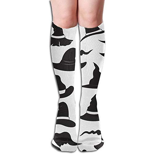 Cute Witch Hats Long Socks Knee High Socks Funky Sport Socks Novelty Crew Socks Stockings For Women ()