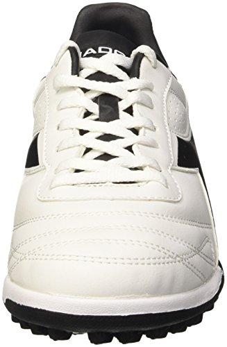 Diadora Brasil R Tf, Botas de Fútbol para Hombre Bianco (Bianco/Nero)
