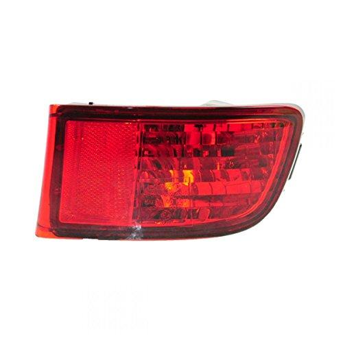 Rear Bumper Red Reflector Right Light Passenger Side for 03-05 Toyota 4Runner (Reflector Side Rear Right)