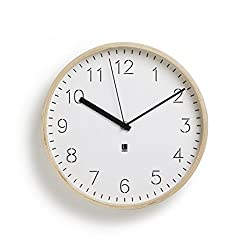 Umbra Rimwood WALL CLOCK, Decorative Wooden Wall Clock, Made from Natural Wood, Doubles as Wall Décor, White (11-inch diameter clock)
