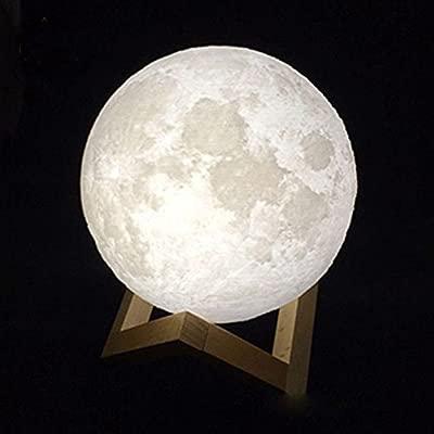 Impresión 3D Recargable Lámpara de la Luna Toque Interruptor ...