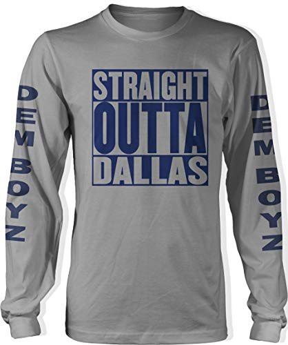 Millionaire Mentality Straight Outta Dallas Long Sleeve Grey T-Shirt (Limited Edition) (3X-Large)
