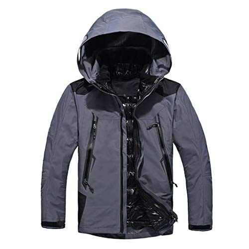 Houshelp Men's Tactical Army Outdoor Coat Softshell Jacket Hunting Mountain Ski Jacket Winter Windproof Rain Jacket Gray (The Man In The Gray Flannel Suit Novel)