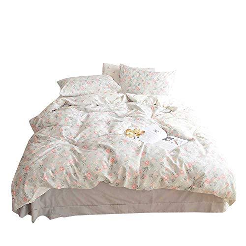 VM VOUGEMARKET Floral Printed Duvet Cover Set King,Premium Cotton Reversible AB Version Design,Bright Spring Bedding Set-King,Bloom