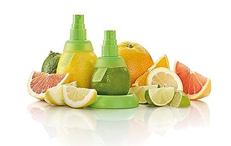 Compra Damastoreitalia 2 spruzza Exprimidor de Limón Lima cítricos Naranjas Limones Botella pulverizadora Zumo de Limón Cocina Citrus Spray en Amazon.es